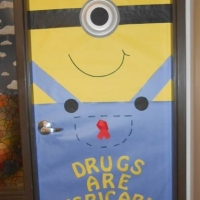Batesville Middle School Door Decorating Contest sponsored by CHOICES. One of the winners was Mrs. Elston's class! The class received a waffle and ice cream party!