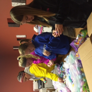 Mayor's Youth Council members filling eggs for the community Easter Egg Hunt.